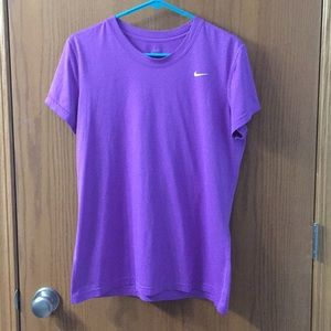 """5/$20"" Nike dri fit purple T-shirt"
